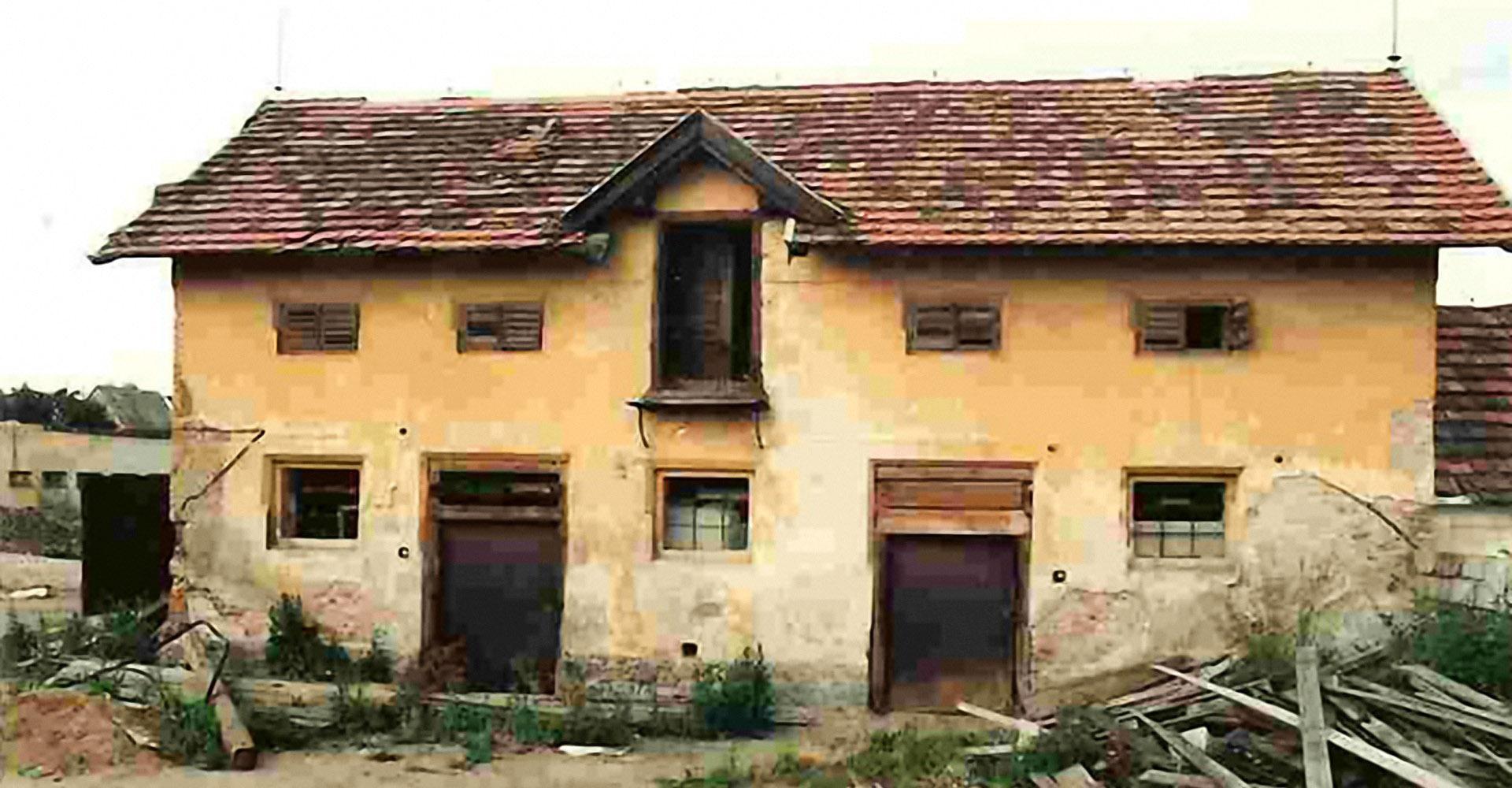 Stav areálu v roce 1990